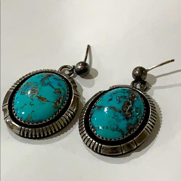 Navajo Johnson 925 s.silver Turquoise Earrings